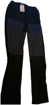 Surface to Air Blue Cotton Trousers for Women