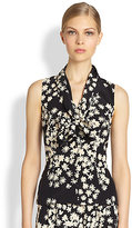Carolina Herrera Silk Floral Blouse