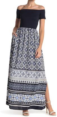 Eliza J Off-the-Shoulder Maxi Dress