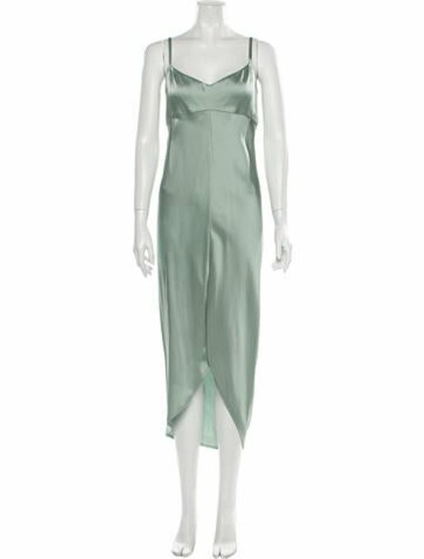 ADEAM V-Neck Midi Length Dress w/ Tags Green