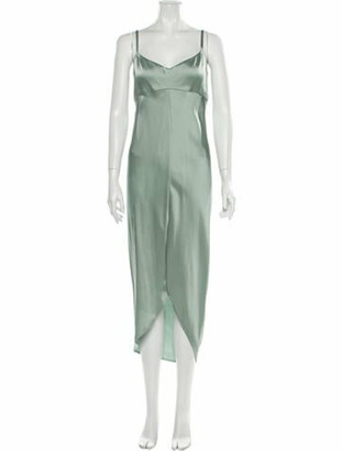 ADEAM V-Neck Midi Length Dress w/ Tags Green