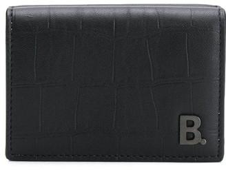 Balenciaga B plaque coin pouch