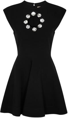 Christopher Kane Black crystal-embellished mini dress