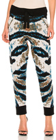 Baja East Cashmere Jacquard Pant in Abstract,Black,Blue,Green,White.