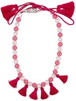 Shourouk Sautoir Tassel Necklace - Pink