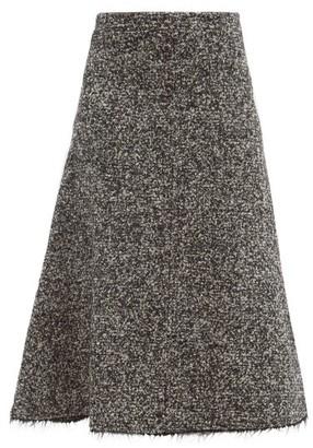 Joseph Sibyl Wool-blend Boucle Midi Skirt - Black White