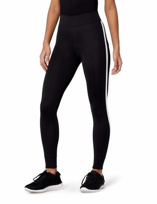 Amazon Brand - AURIQUE Women's Side Stripe 7/8 Sports Leggings