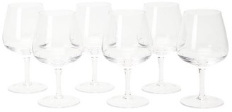 The Wolseley Collection - Set Of Six Bevelled Crystal Wine Glasses - Clear