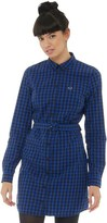 Fred Perry Womens Gingham Shirt Dress Regal