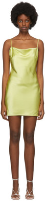 Nanushka SSENSE Exclusive Yellow Satin Lotti Tank Dress