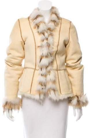 Giuliana Teso Fur-Trimmed Suede Jacket