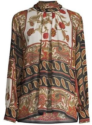 Seventy Foulard Long-Sleeve Blouse