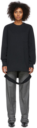Helmut Lang Black Side Strap Long Sleeve T-Shirt