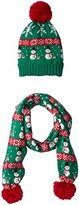 It's Our Time Women's Ugly Christmas Snowman Gift Set with Beanie and Scarf
