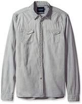 Scotch & Soda Men's Ams Blauw Classic Western Shirt In Regular Fit