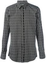 Dolce & Gabbana geometric pattern print shirt - men - Cotton - 40