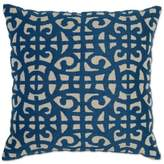 Villa Home Ace Square Throw Pillow in Marine