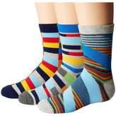 Jefferies Socks Funky Stripe Crew 3-Pack Boys Shoes