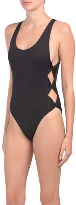 Bow Tie High Leg One-piece Swimsuit