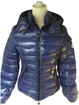 Moncler Hood Blue Polyester Jackets & Coats