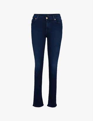 7 For All Mankind Women's Blue Rozie Slim High-Rise Jeans, Size: 25