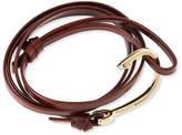 Miansai Hook Leather Bracelet, Brandy
