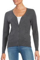 Lord & Taylor Merino Wool Button-Front Cardigan