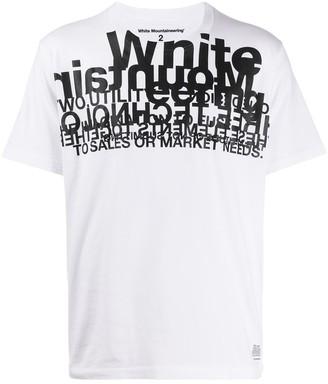 White Mountaineering layered logo T-shirt