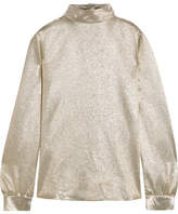 Vanessa Bruno Hena Metallic Silk-blend Georgette Blouse - Gold