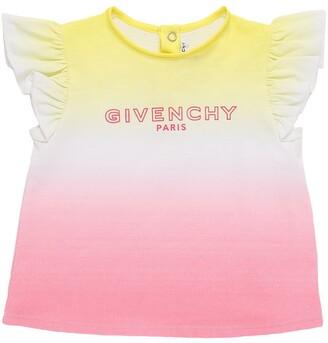 Givenchy Cotton Jersey T-Shirt W/ Logo