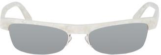 Alain Mikli Paris White and Silver Alexandre Vauthier Edition Ketti Sunglasses