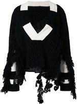 Sacai asymmetric knit jumper