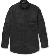 Y-3 - Slim-fit Zip-detailed Cotton-poplin Overshirt