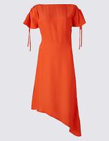 M&S Collection Asymmetric Tie Sleeve Swing Midi Dress