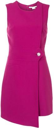 Veronica Beard Asymmetric-Hem Button-Fastening Dress