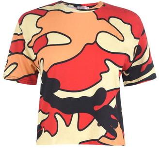 KENDALL + KYLIE Camo Crop T Shirt
