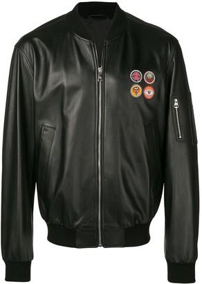 Roberto Cavalli Leather Bomber Jacket