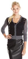 Rebecca Taylor Women's Lace Front Cardigan