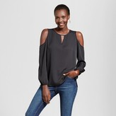 Simply, by Love Scarlett Women's Woven Cold Shoulder Blouse with Lace Back - Simply by Love Scarlett