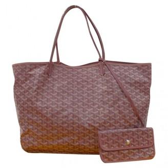 Goyard Saint-Louis Red Cloth Handbags