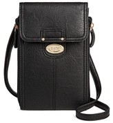 Bolo Women's Faux Leather Wallet with Back/Interior Compartments and Zipper Closure - Black