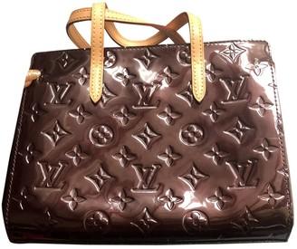 Louis Vuitton Catalina Burgundy Patent leather Handbags