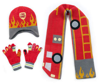 Kidorable Little and Big Boy Fireman Knitwear Set
