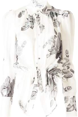 Dice Kayek Floral Print Asymmetric Shirt