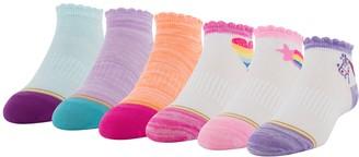 Gold Toe Girls GOLDTOE 6-Pack Dream Quarter Socks
