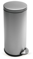 Simplehuman 35L Round Step Can Brushed Stainless Steel with Bonus 60 Pack Liners