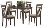Monarch Five-Piece Slat-Back Dining Set