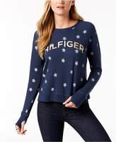 Tommy Hilfiger Star-Print Logo Sweatshirt, Created for Macy's