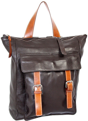 Nino Bossi Handbags Women's Backpacks Chocolate - Chocolate Ainsley Leather Backpack