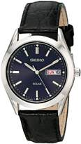 Seiko Men's SNE049 Solar Strap Dial Watch